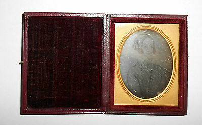 Rare Antique Daguerreotype Of Painting/drawing