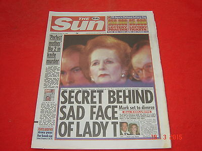 The Sun newspaper. 12th October 1994. Page 3 Tracey Coleman excellent condition.