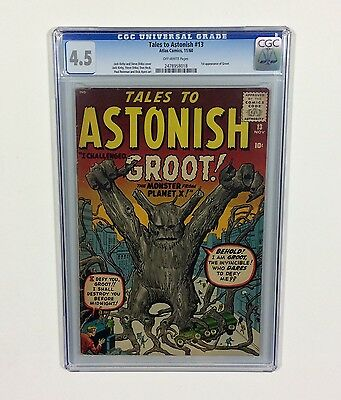 Tales To Astonish #13 CGC 4.5 KEY (1st GROOT-Guardians of the Galaxy)1961,Marvel