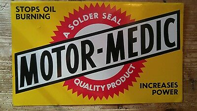 Original Motor Medic . Auto Service Gas Oil Station Sign Rack Top