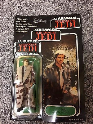 Vintage Carded Hans Solo Return Of The Jedi Brand New never opened still sealed