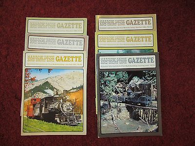 Narrow Gauge & Short Line Gazette 6 issues from 1981 - HOn3, On30, On3, Sn3, LGB