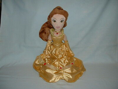 BEAUTY AND & THE BEAST Large PRINCESS BELLE Cuddly Soft Plush Toy Doll (DISNEY)