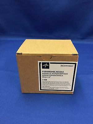 "Medline 22gx1 1/2"" Sterile Hypodermic Syringe Needles (Box of 100) FREE SHIPPING"