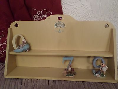 Beatrix Potter Border Fine Arts Set Numbers 0-9 Plus Display Stand