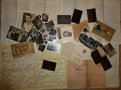 WW2 stamp GERMAN DOCUMENT card Feldpost  envelope  photos negative lot