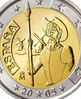 Spain 2 Euro Coin 2005 Commemorative D. Quijote New BUNC from Roll