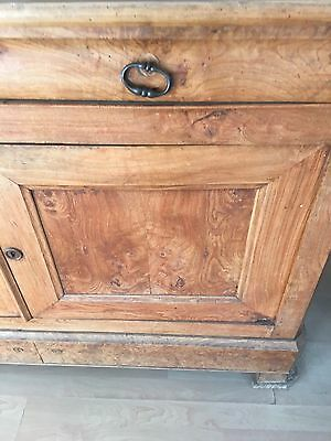 Buffet Deux Corp-Beautiful Large Antique, Ash And Elm Louis Philippe 19th C