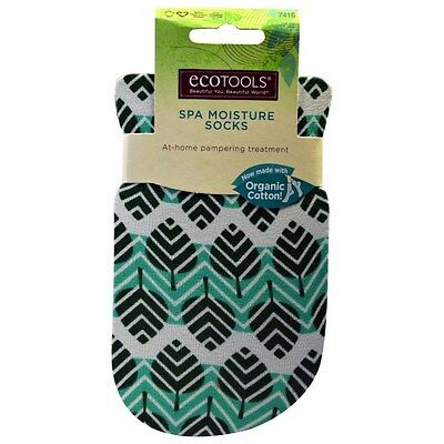 ECOTOOLS Spa Moisture Organic Cotton Socks 1 Pair At-Home Pampering Treatment