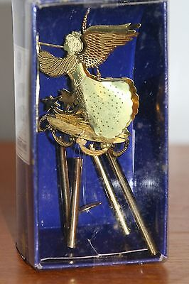 Christmas Decoration Gold Angel Hanging Chimes