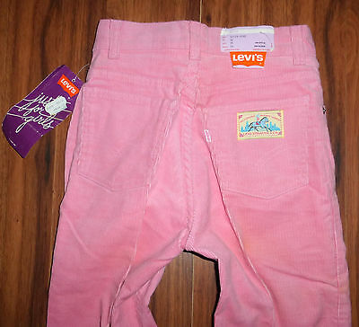 Vintage W/ Tags Levi's 1981 Just For Girls High Waist Corduroy Pants Jeans 24X32