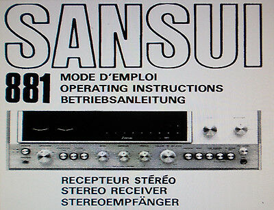 sansui 881 stereo receiver operating instructions inc conn diags eng rh picclick co uk User Guide Template Clip Art User Guide