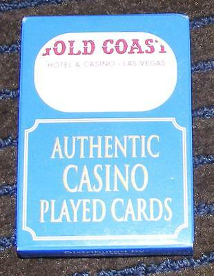 The Gold Coast Hotel and Casino - Las Vegas Used Playing Cards - Red
