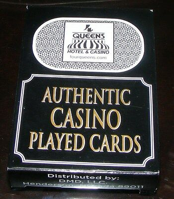 The Four Queens Hotel and Casino - Las Vegas Used Playing Cards - Black