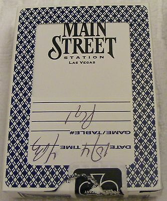 The Main Street Station Hotel and Casino - Las Vegas Used Playing Cards - Black