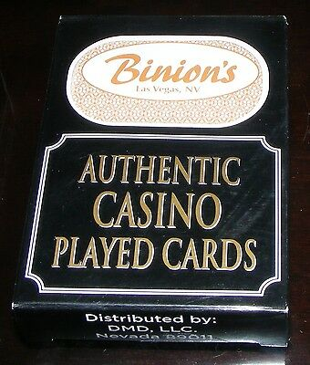 The Binion's Hotel and Casino - Las Vegas Used Playing Cards - Brown