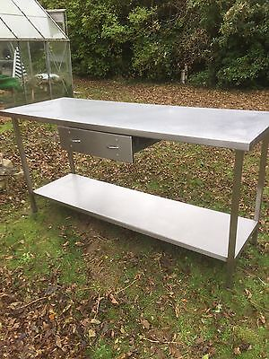 Stainless Steel Catering Table, Prep Table With Under Shelf & Draw