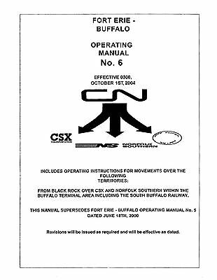 Canadian National Buffalo-Fort Erie Operating Guide Terminal CN CSX NS