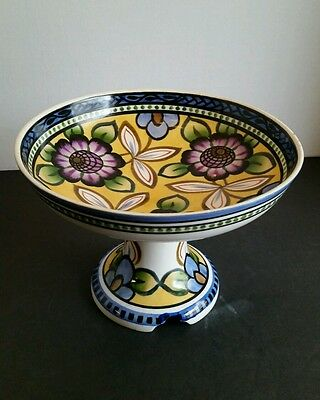 Vintage Porcelain Compote Tray Nippon Japan Hand Painted Noritake