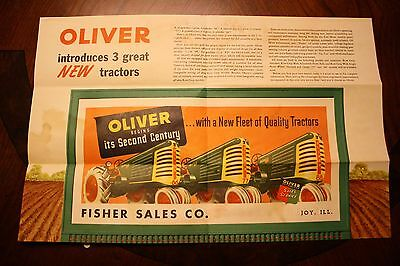 Oliver 66 77 88 Tractor Brochure Fisher Sales Co. Joy Ill. FREE SHIPPING