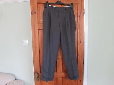 northern soul / 50s twin pleated turn up trousers W 34 X L 30