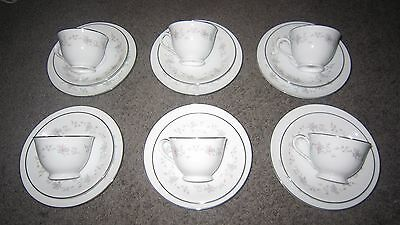 Noritake pauline 6586 cup, saucer and plate x6 in box