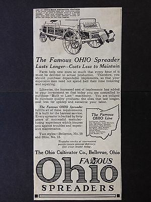 Vintage Ad 1918 (Xx33)~The Ohio Cultivator Co. Bellevue. Ohio Spreaders