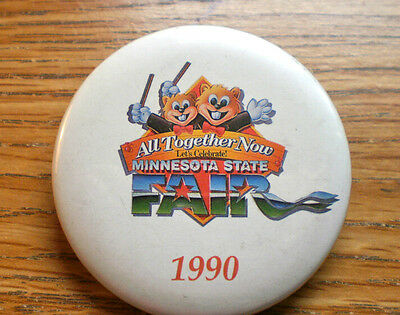 """1990 Minnesota State Fair All Together Now Let's Celebrate 2 1/4"""" Celluloid"""