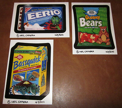 Wacky Packages series 3 limited edition LE postcard postcards set