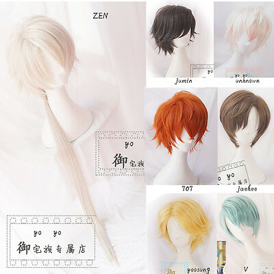 Wig Cosplay Game Mystic Messenger Harajuku Couples Unisex Curly Hair 7 style