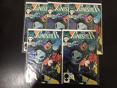 The punisher #4 marvel comics first appearance of microchip 1987 VF Lot of 5