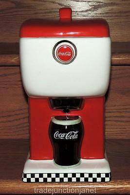 "EC 1997 COCA-COLA ENESCO 12""h SODA FOUNTAIN BISCUIT/SNACK/COOKIE JAR CANISTER"
