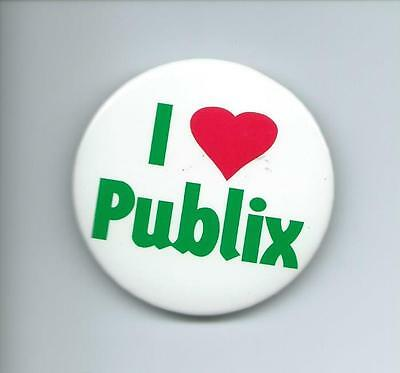 I Love Publix Pin / Button