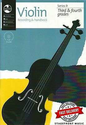 Ameb Violin Series 9 Recording & Handbook - Grade 3 & 4 ***New***