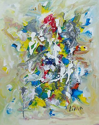 Jose lima. Abstract Painting Modern Wall Art Contemporary Original Signed .