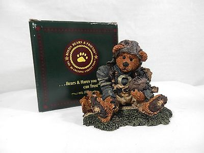 Boyds Bearstone Collection - Knute & the Gridiron, 1994