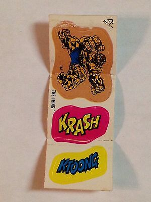 1979 Cracker Jack RARE! Marvel Super Heroes Stickers THE THING pose 1