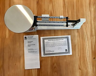 NEW Ohaus Triple Beam Balance Scale 750-SO Magnetic Damping Tiered Notched 610