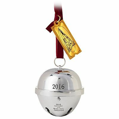 Hallmark THE POLAR EXPRESS Silver Bell First Gift of Christmas Ornament W/ Sound
