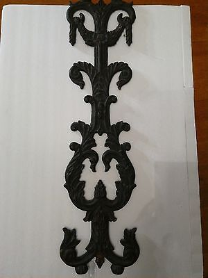 Antique Decorative Wrought Iron Metal Hanging Wall Decor From New Orleans