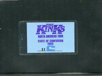 The Kinks  1983 Backstage pass State of Confusion
