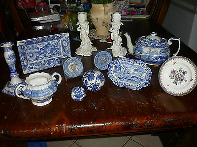 Large Collection of Spode porcelain including Teapot, Display Plates & more -Vic