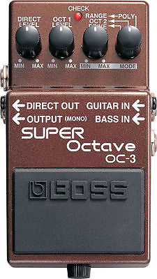 Boss OC-3 Polyphonic Octave Effects Pedal OC3 New!