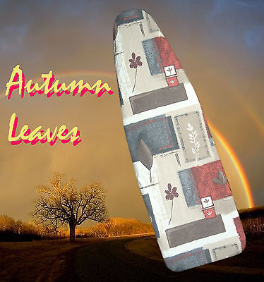 """NEW """"AUTUMN LEAVES"""" Ironing Board Cover with Padding - Perfect Xmas Gift!"""
