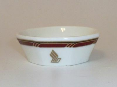 RARE !!  Singapore Airlines First-Business Class saucers small plate  BRAND NEW