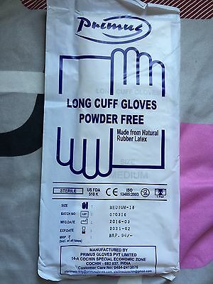 Elbows Length latex Surgical Gloves Size Medium 18 Inches Long