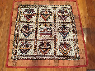 Rare Indian Beaded Ceremonial Large Tapestry Piece From Udaipur Vintage