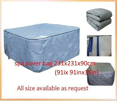 hot tub cover guardn  231x231x90cm (91ix 91inx35in) and spa cover protector