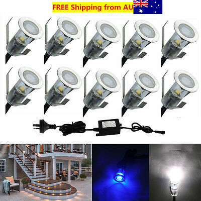10X Φ19mm 12V 0.4W Outdoor Yard Patio Landscape LED Deck Stair Lights Lighting