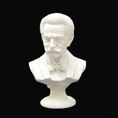 J Strauss Composer Bust /statue /figurine - 22Cm Crushed Marble